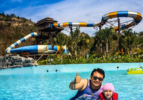 the largest themed and water park in the northeast region of Thailand
